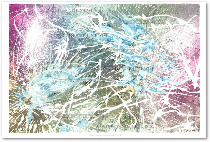 Buy Art Prints from leading Contemporary Artist Stephen E Wise - Artwork Title : Asian Tsunami