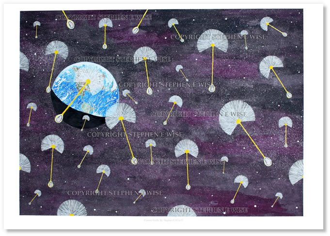 Buy Art Prints from leading Contemporary Artist Stephen E Wise - Artwork Title : Cosmic Seeds