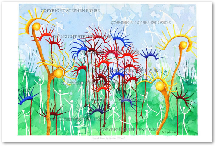 Buy Art Prints from leading Contemporary Artist Stephen E Wise - Artwork Title : Eyelash forest