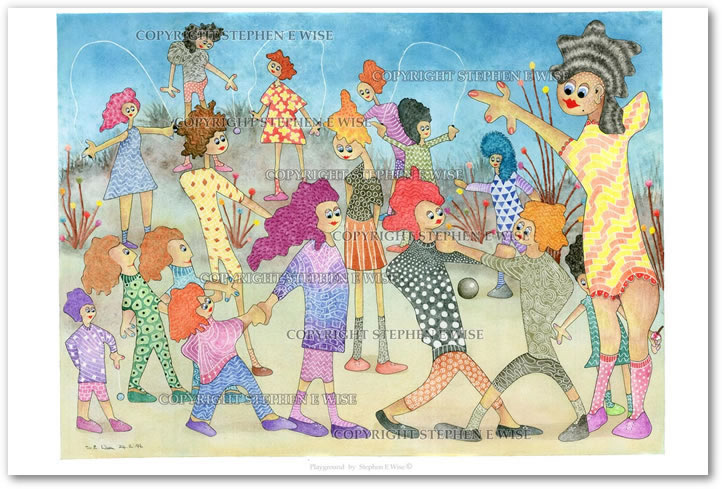 Buy Art Prints from leading Contemporary Artist Stephen E Wise - Artwork Title : Playground
