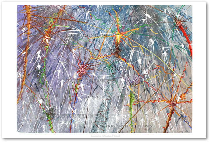 Buy Art Prints from leading Contemporary Artist Stephen E Wise - Artwork Title : Resurrection