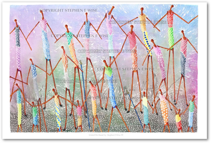 Buy Art Prints from leading Contemporary Artist Stephen E Wise - Artwork Title : United we stand