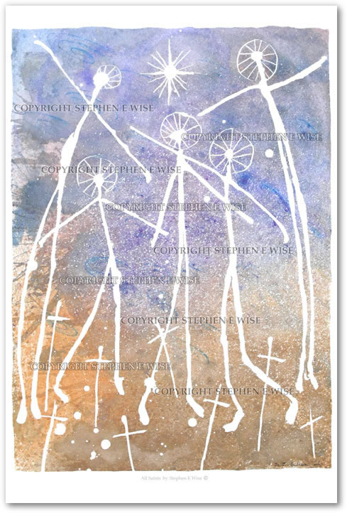 Buy Art Prints from leading Contemporary Artist Stephen E Wise - Artwork Title : All saints