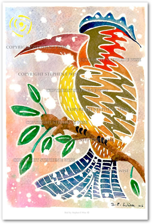 Buy Art Prints from leading Contemporary Artist Stephen E Wise - Artwork Title : Bird