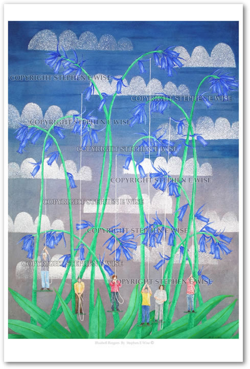 Buy Art Prints from leading Contemporary Artist Stephen E Wise - Artwork Title : Bluebell Ringers