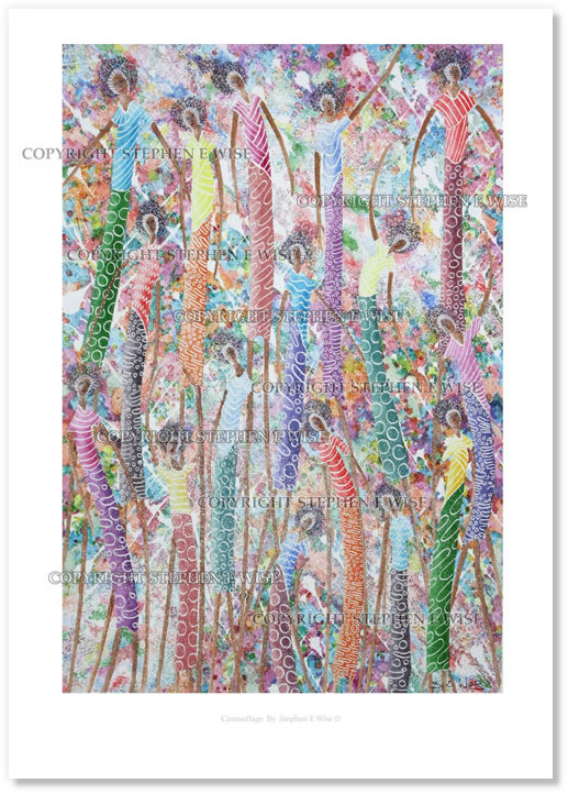 Buy Art Prints from leading Contemporary Artist Stephen E Wise - Artwork Title : Camouflage 2