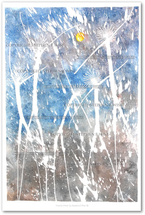 Buy Art Prints from leading Contemporary Artist Stephen E Wise - Artwork Title : Cosmic wind