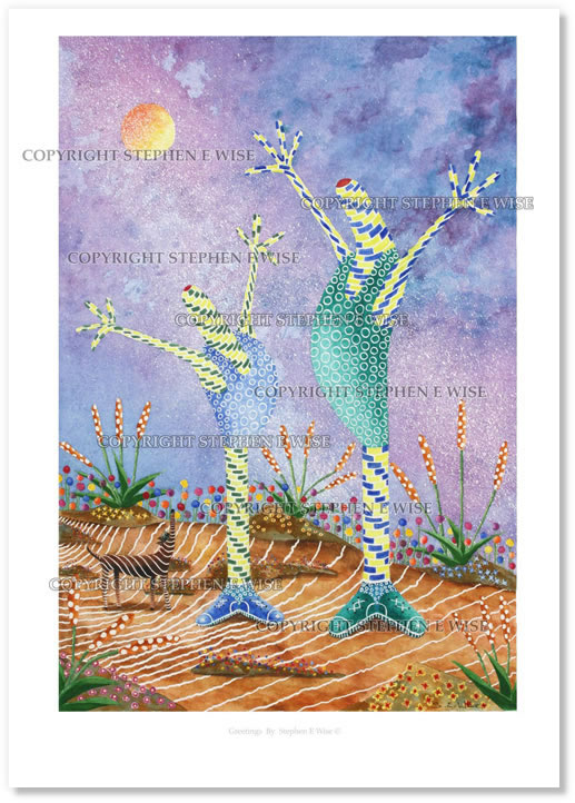 Buy Art Prints from leading Contemporary Artist Stephen E Wise - Artwork Title : Greetings 3