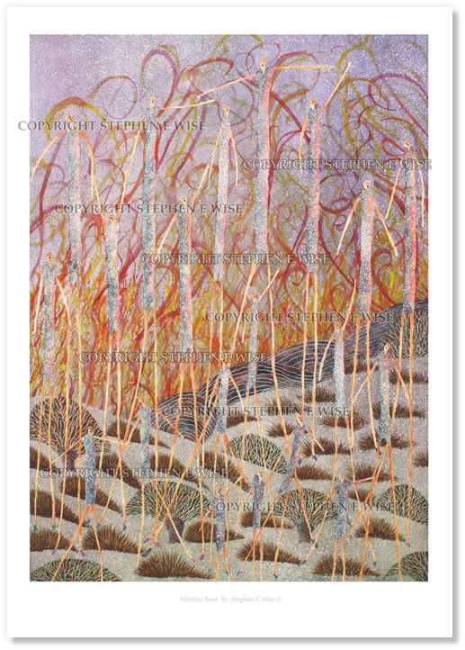Buy Art Prints from leading Contemporary Artist Stephen E Wise - Artwork Title : Wildfire Rout